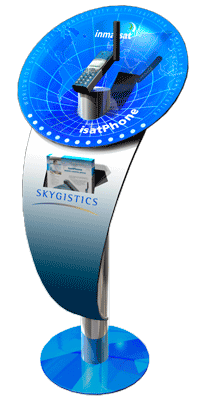 Skygistics Inmarsat display